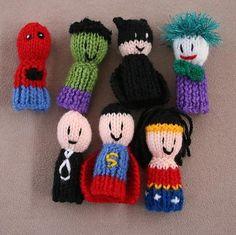 7 Superhero finger friends Finger Puppets