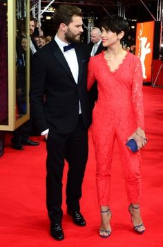 Jamie Dornan and his wife Amelia on the red carpet for Fifty Shades of Grey :)