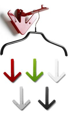 Arrow hanger by gustav hallen. available at designhouse.ca Hanger Hooks, Coat Hanger, Rack Design, Innovation Design, Magpie, Arrow, Stockholm, Catalog, Coat Stands