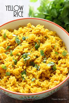This yellow rice is by far my favorite side dish! So easy and so so good!This yellow rice is by far my favorite side dish! So easy and so so good! Bean Recipes, Side Dish Recipes, Dinner Recipes, Rice Side Dishes, Food Dishes, Pasta Dishes, Yellow Rice Recipes, Yellow Rice Recipe Cuban, Yellow Mexican Rice