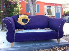 Purple. No cushions. Santa Monica.