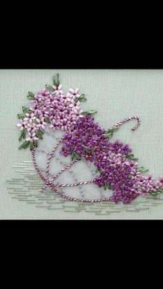 Wonderful Ribbon Embroidery Flowers by Hand Ideas. Enchanting Ribbon Embroidery Flowers by Hand Ideas. Hand Embroidery Videos, Embroidery Flowers Pattern, Hand Embroidery Stitches, Hand Embroidery Designs, Embroidery Needles, Embroidery Techniques, Ribbon Embroidery Tutorial, Silk Ribbon Embroidery, Embroidery Kits