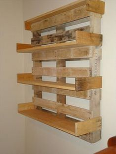 Making shelves out of pallets shelves made from pallets floating storage a how to make shelves . making shelves out of pallets Old Pallets, Recycled Pallets, Wooden Pallets, Pallet Wood, Recycled Wood, Pallet Benches, Pallet Couch, Pallet Tables, Pallet Bar