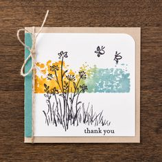 We love the imagery from the In the Meadow stamp set. The set works great for all kinds of techniques to make projects for anyone in your life!