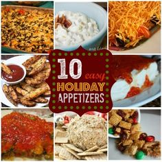 10 Easy Holiday Appetizers.