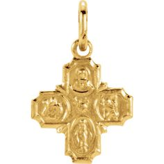 Yellow Gold Four Way Cross Pendant, x (Sacred Heart of Jesus Medal, a Miraculous Medal, St. Joseph Medal and St. I Love Jewelry, Gold Jewelry, Chain Jewelry, Vintage Jewelry, Buy Gold And Silver, Gold Chains For Men, Best Friend Jewelry, Gold Tips, Gold Bullion