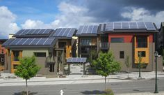 """Net Zero Development In Washington A First - zHomes, Issaquah, Wash -   """"This collection of 10 new townhomes is believed to be the first net zero, carbon neutral multifamily development in the country."""""""