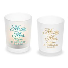 Personalized frosted tealight candle holder with Mr. Unique votive candle holders for your wedding decoration. Glass Votive, Tealight Candle Holders, Votive Candles, Reception Table Decorations, Wedding Decorations, Tea Light Candles, Tea Lights, Frosted Glass Design, Tea Light Holder