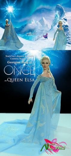 https://flic.kr/p/MZq62y | Georgina Haig as Queen Elsa by Noel Cruz |  Georgina Haig as she appeared as Queen Elsa on ONCE UPON A TIME on ABC.  Auction starts Saturday, October 22nd, 2016.  Today on eBay Queen Elsa by Noel Cruz of www.ncruz.com www.ebay.com/usr/ncruz_doll_art  FOR MORE OF MY ART, PLEASE VISIT MY WEB SITE AT WWW. NCRUZ.COM . Link below:  www.ncruz.com  See more examples of my work at my web site: www.ncruz.com/ Twitter: twitter.com/ncruzdollart Google…
