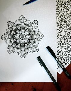 #illustration #flower #mandala # ink