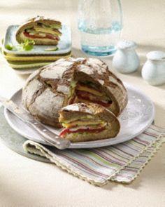 Gefülltes Party-Brot