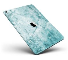 """Cracked Turquise Marble Surface Full Body Skin for the iPad Pro (12.9"""" or 9.7"""" available) from DesignSkinz"""