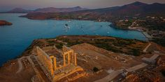 The sunset over the Aegean Sea, as viewed from the ruins, is a sought-after sight. #Sounio #Sounion #Attica #Greece #Monterrasol #travel #privatetours #customizedtours #multidaytours #roadtrips #travelwithus #tour #landscape #nature #architecture #sea #beauty #beautiful #thisisgreece #destination #tourism #temple #cape #sunset #view Attica Greece, Transportation Services, Airport Transportation, Seaside Village, Seaside Resort, Greece Travel, Greece Trip, Thessaloniki, Archaeological Site
