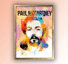 Paul McCartney, McCartney Poster, The Beatles Art, Paul McCartney Art, Paul Mccartney Print, Paul McCartney Gift, Musician Gift, The Beatles by MusicSongsAndLyrics on Etsy