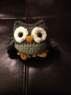 Little Owl. Made using Amy Chou's free pattern available here: http://www.ravelry.com/patterns/library/little-owls-2