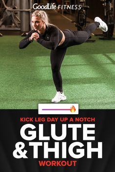 Thigh and Glute Bodyweight Workout. Reduce the risk of back injury by building a stronger lower body. A zero equipment workout that targets your thighs and glutes! One Song Workouts, Mini Workouts, Cheer Workouts, Morning Workouts, Leg And Glute Workout, Bed Workout, Glute Workouts, Thigh Exercises, Stretches