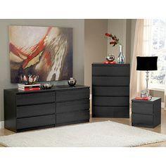 Laguna Double Dresser, 5-Drawer Chest and Nightstand Set ...