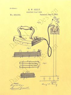 US Patent Prints of Henry W Seely's Electric by danielbydesign, $8.00