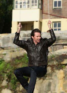 Hugh Jackman I'll swing with you!
