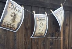 Western Party Printable WANTED POSTER 4 Designs