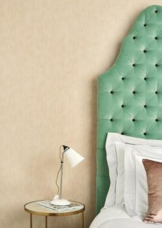 Watered Silk Wallpaper - Cole & Son - Landscape Plains Collection - Lime Lace £64.95 #cole&son #wallpaper #mother-of-pearl #moire
