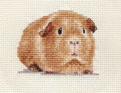 GUINEA-PIG-Complete-counted-cross-stitch-kit-Exclusive-Design