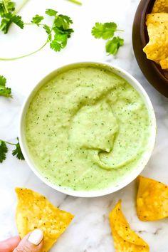 Creamy Avocado Salsa Verde   http://foodiecrush.com