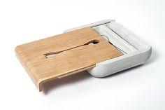 Dobrobox & Dobrostol Concrete Decor by Ekaterina Vagurina in main home furnishings Category Concrete Interiors, Concrete Furniture, Concrete Cement, Furniture Design, Cemento Portland, Bed Tray Table, Cement Design, Beton Design, Archi Design