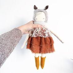 little Bora with ears puppadolls Puppa doll hand by poppyandowl