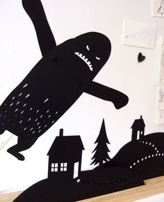 By Owly Shadow Puppets on Etsy Shadow Theatre, Marionette, Shadow Art, Shadow Puppets, Animal Crafts, Animal Party, Stop Motion, Art Plastique, Teaching Art