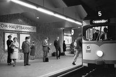 Die U-Bahn-Haltestelle Dom/Hauptbahnhof in den 1970er Jahren.