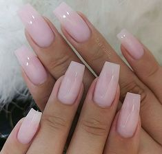 Are you ready to change your nails? Take a look at our trendy simple coffin nails. These are the most popular ballet nails in Simple Acrylic Nails, Square Acrylic Nails, Pink Acrylic Nails, Pale Pink Nails, Stylish Nails, Trendy Nails, Cute Nails, Perfect Nails, Gorgeous Nails