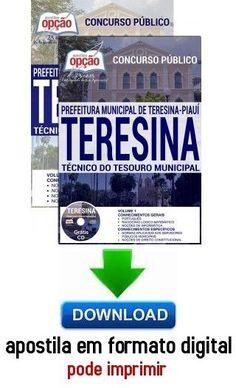 Concurso Prefeitura Municipal de Teresina / PI 2016  TÉCNICO DO TESOURO MUNICIPAL