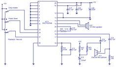 Voice recorder playback circuit diagram