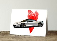 Excited to share this item from my shop: Ferrari love anniversary card. available in 2 colors. Love Anniversary, Anniversary Cards, White Horse Painting, Jeep Gifts, Cards For Boyfriend, Automotive Decor, Love Car, Custom Cards, Gifts For Husband