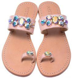 Rhinestone Sandals, Beaded Sandals, Mystique Sandals, Jeweled Sandals, Palm Beach Sandals, Contemporary Style, Slippers, Footwear, Wedges
