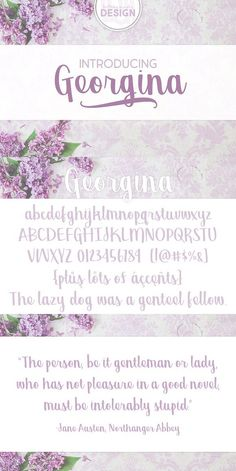 Georgina is an adorably chunky script font. Check out the font family to get both this and the Vintage Fonts, Vintage Typography, Graphics Vintage, Vector Graphics, Writing Fonts, Cursive Fonts, Hand Lettering Alphabet, Brush Lettering, Font Combinations