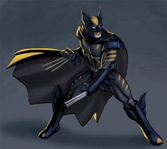 Dark Claw. A character from the limited Amalgamation universe. Wolverine melded with Batman. Silly but cool.