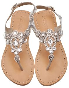 Gorgeous Silver Crown Sandals