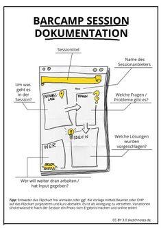 Vorlage für #Sketchnote Dokumentation für Barcamps von http://www.pinterest.com/ralfappelt/