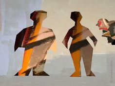 MARIO STRACK - Society 3 Artcard Bild Bilder Grafik print abstrakt Kunst Karte