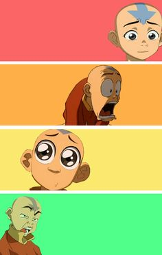 The many faces of Aang.