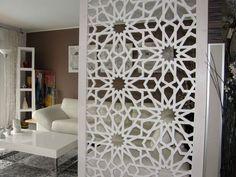 Claustra d'intérieur design peint en blanc