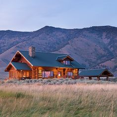 Henry's Lake log home constructed by Hilgard Log Builders of West Yellowstone MT.  View more photos on our Facebook page: http://ift.tt/1NbgL0X