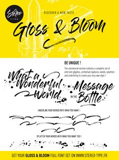 Gloss And Bloom   dafont.com