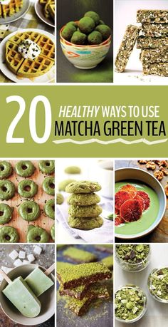 20 Healthy Recipes with Matcha Green Tea - The Healthy Maven Matcha has so many benefits beyond your standard green tea latte! Here are 20 Healthy Recipes Using Matcha Green Tea so you can benefit from all of its antioxidant health properties! Clean Eating, The Healthy Maven, Green Tea Recipes, Healthy Snacks, Healthy Recipes, Avocado Smoothie, Green Tea Powder, Tea Benefits, Recipe Using