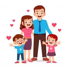 happy cute kid boy and girl with mom and dad - Comprar este vetor do stock e explorar vetores semelhantes no Adobe Stock Bear Illustration, Family Illustration, Barbie Chelsea Doll, Happy Grandparents Day, Family Drawing, Family Photo Frames, Chibi Characters, Holding Baby, Character Poses