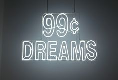 Doug Aitken 99¢ Dreams 2007 neon in glass case 35 1/4 x 54 3/16 inches