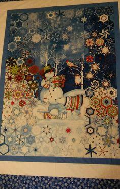 Christmas Placemats, Christmas Applique, Panel Quilts, Quilt Blocks, Quilting Projects, Quilting Designs, One Block Wonder, Landscape Art Quilts, Snowman Quilt