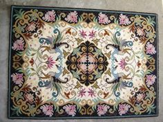 Arraiolos Carpet -the trademark of the municipality, made in wool and hand embroidered, with colorful flowery motifs. Portuguese Culture, Latch Hook Rugs, Weaving Textiles, Doodle Patterns, Handmade Rugs, Boho Decor, Art Images, Rugs On Carpet, Needlepoint